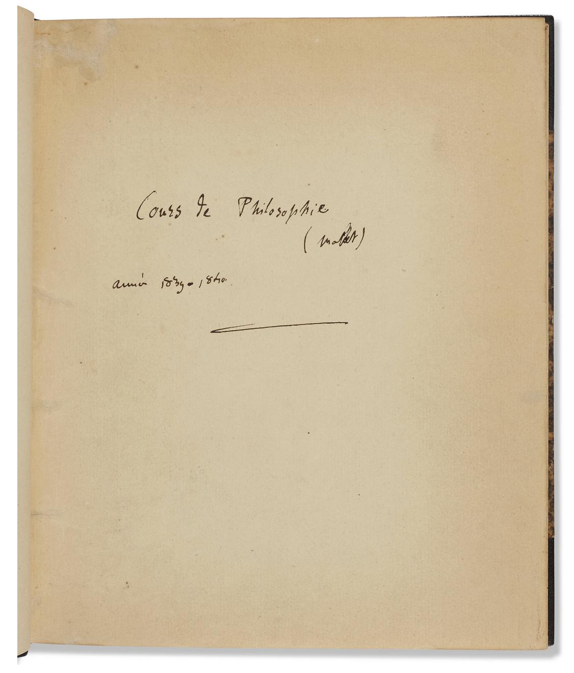 page de titre - Cours de philosophie